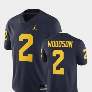 Men's 2018 Alumni Football Game #2 Michigan Wolverines Charles Woodson college Jersey - Navy