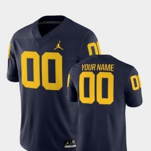 Men #00 Football 2018 Game Wolverines college Custom Jerseys - Navy