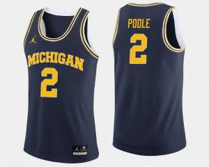 Men Michigan Wolverines #2 Basketball Jordan Poole college Jersey - Navy