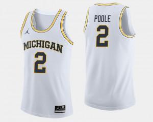Men's Basketball Michigan Wolverines #2 Jordan Poole college Jersey - White