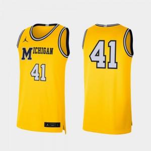 Men Retro Limited #41 Basketball Michigan college Jersey - Maize