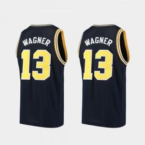 Men Basketball #13 Michigan Alumni Moritz Wagner college Jersey - Navy