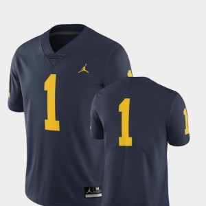 Men's #1 Football Michigan Wolverines Limited college Jersey - Navy