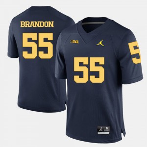 Men's Football U of M #55 Brandon Graham college Jersey - Navy Blue