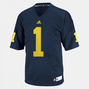 Men's Football #1 Michigan Wolverines Braylon Edwards college Jersey - Blue