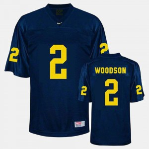 Men's Football Wolverines #2 Charles Woodson college Jersey - Blue