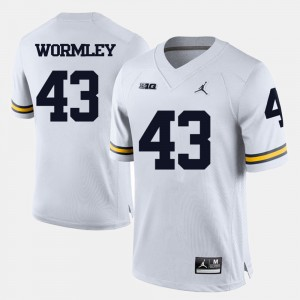 Men #43 Football Michigan Chris Wormley college Jersey - White