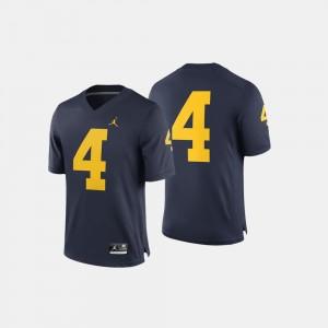 Men's U of M #4 Football college Jersey - Navy