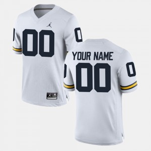 Mens #00 Limited Football University of Michigan college Custom Jersey - White