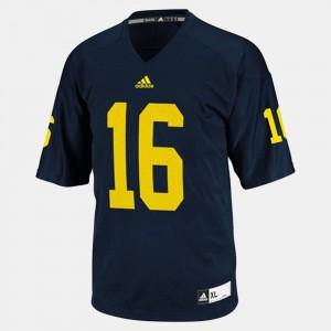 Kids Football University of Michigan #16 Denard Robinson college Jersey - Blue