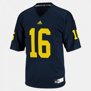 Men #16 Football Michigan Denard Robinson college Jersey - Blue
