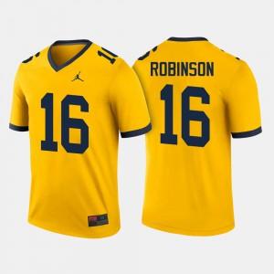 Mens Wolverines Football #16 Denard Robinson college Jersey - Maize