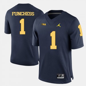 Mens Michigan Wolverines #1 Football Devin Funchess college Jersey - Navy Blue