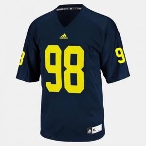 Men Michigan #98 Football Devin Gardner college Jersey - Blue