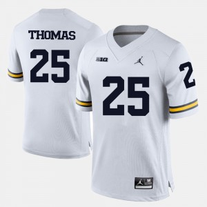 Men's #25 Michigan Football Dymonte Thomas college Jersey - White