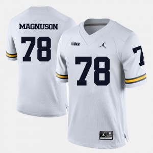 Men's Michigan #78 Football Erik Magnuson college Jersey - White
