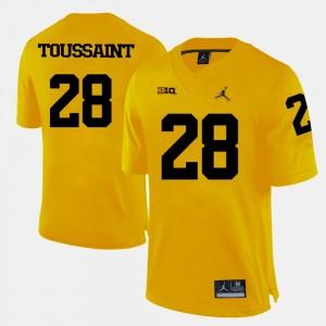 Mens Michigan Football #28 Fitzgerald Toussaint college Jersey - Yellow