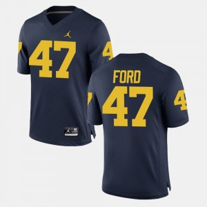 Men's Alumni Football Game Michigan #47 Gerald Ford college Jersey - Navy