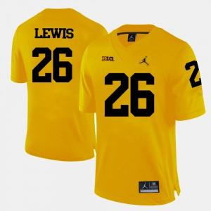 Men's Football #26 Michigan Jourdan Lewis college Jersey - Yellow