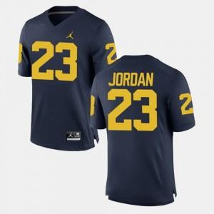 Men #23 Michigan Alumni Football Game Michael Jordan college Jersey - Navy