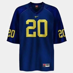 Men's Football #20 University of Michigan Mike Hart college Jersey - Blue