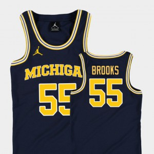 Youth Basketball Jordan University of Michigan #55 Replica Eli Brooks college Jersey - Navy